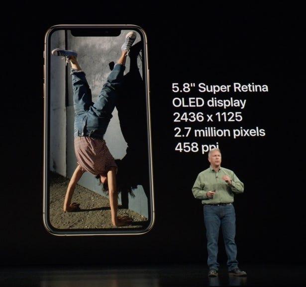 iPhone XS display specs