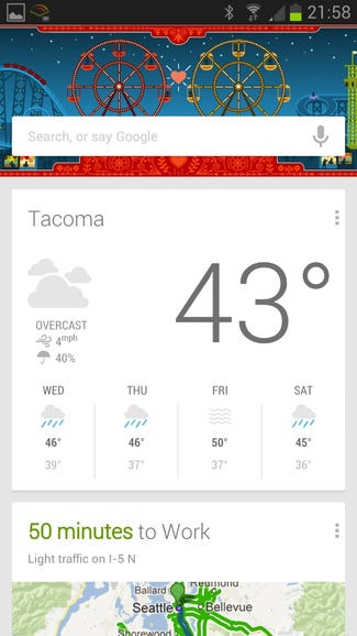 Reason 1: Google Now on Android devices