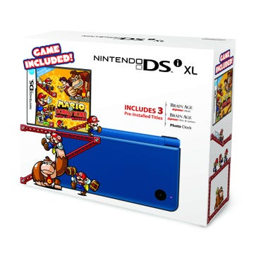Nintendo DSi XL in Midnight Blue with Mario vs. Donkey Kong. Image from Nintendo