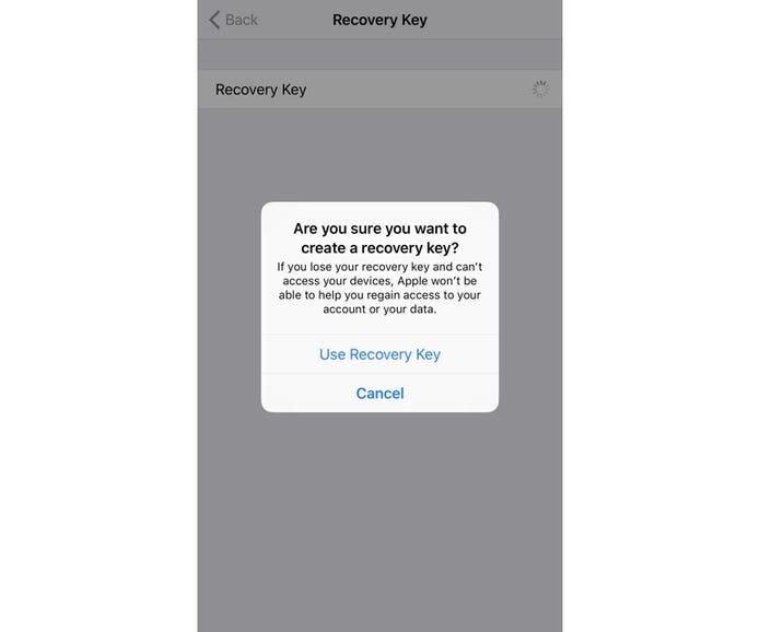 Set a recovery key