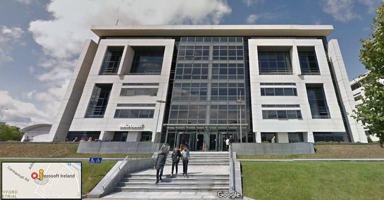 Microsoft Ireland building outside Dublin