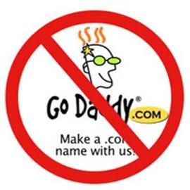 Wikipedia says no to Go Daddy