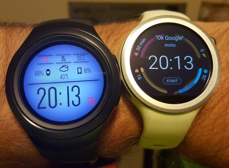 Samsung Gear S2 3G and Moto 360 Sport
