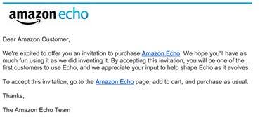 Echo purchase invite