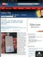 Image Gallery: ZDNet site in Opera Mobile 9.5