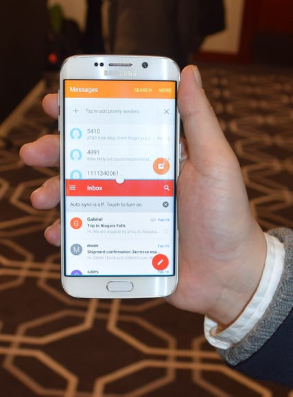 Samsung's Galaxy S6: Email and contact juggling.