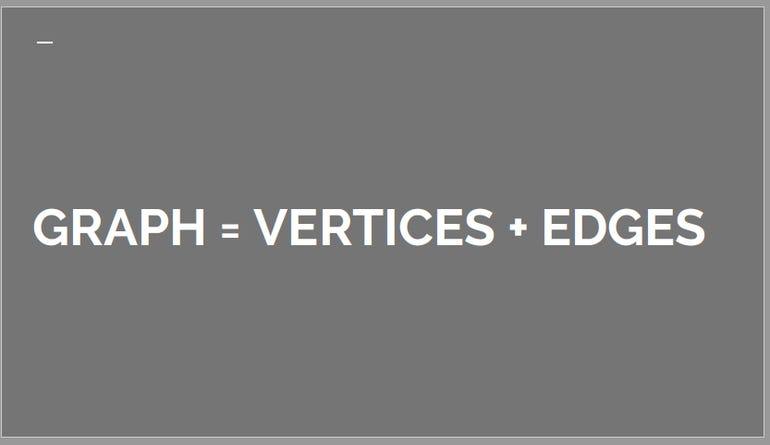 Graph = Vertices + Edges