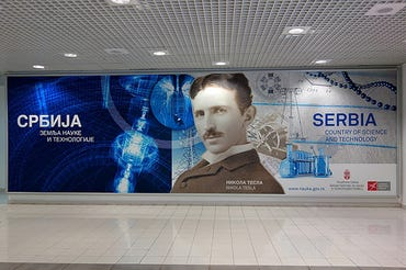 Tesla Airport in Serbia