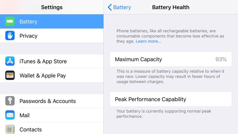 Check out Battery Health
