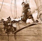 Public domain: Walking the plank (Howard Pyle, 1887) (http://en.wikipedia.org/wiki/File:Pyle_pirate_plank_edited.jpg)