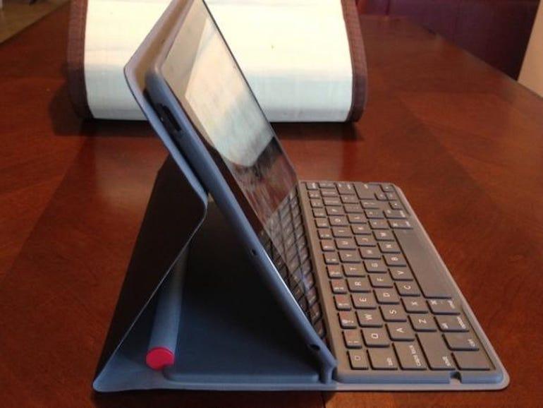 iPad with keyboard folio