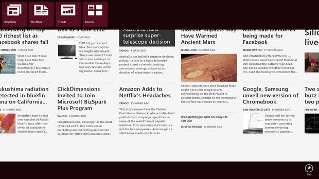 Full-screen Metro apps