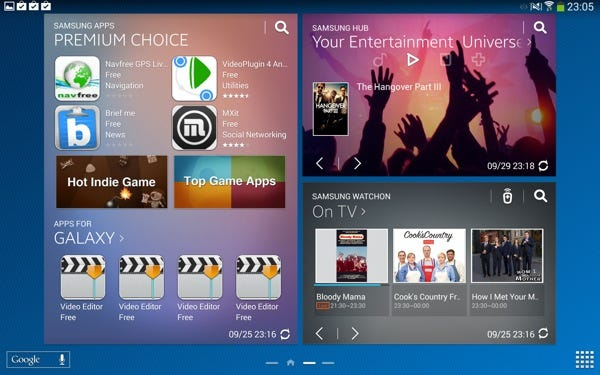 Samsung branded widgets