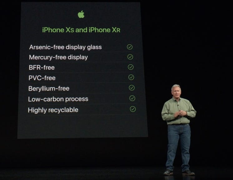 iPhone XS and iPhone XR environmental credentials