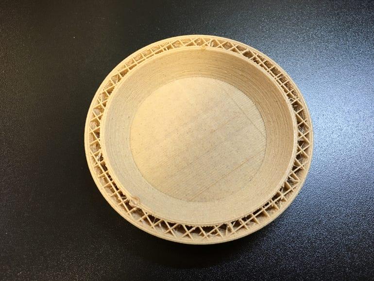 Inside the wood filament print