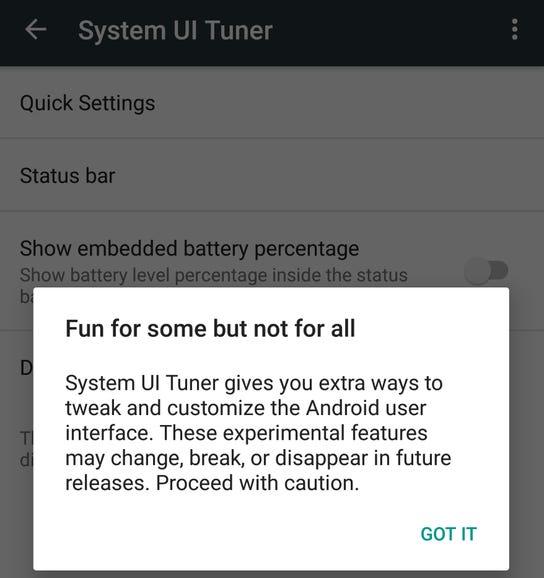 Enabling System Tuner UI