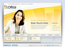 Microsoft Fluent interface for Office demo