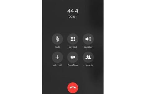 iOS phone calls screen