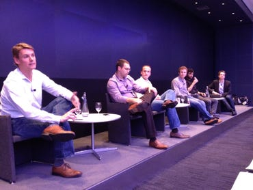 The panel at last week's NYC Data Business Meetup