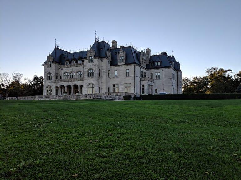 Salve Regina admin building in Newport, RI