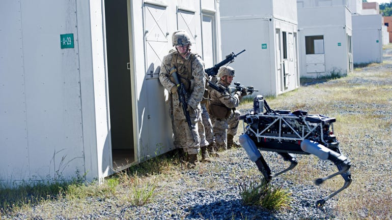 How Spot, the military robot dog, sniffs out enemies