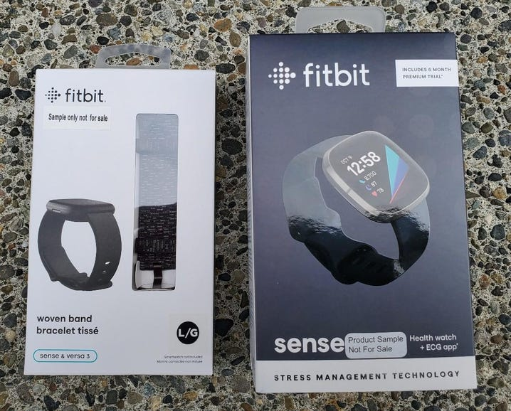 Fitbit Sense and woven band