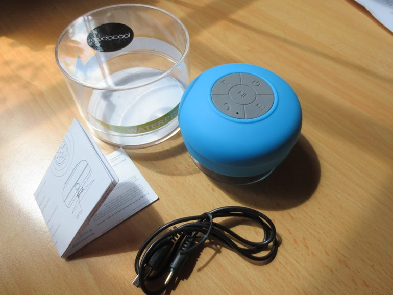dodocool rechargeable Bluetooth 3.0 mini water resistant speaker review  ZDNet