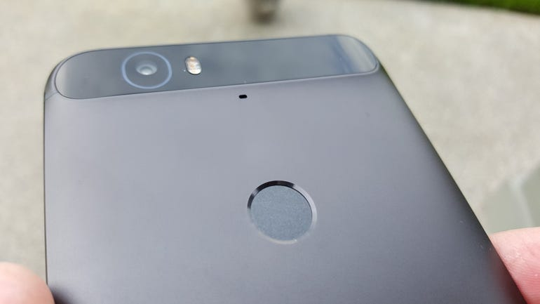 Upper back of the Nexus 6P