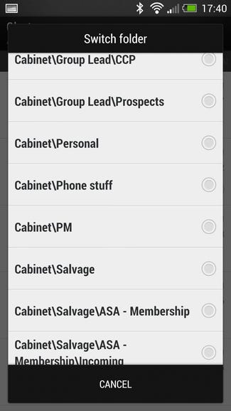 Access all your local folders on Sense 5 One
