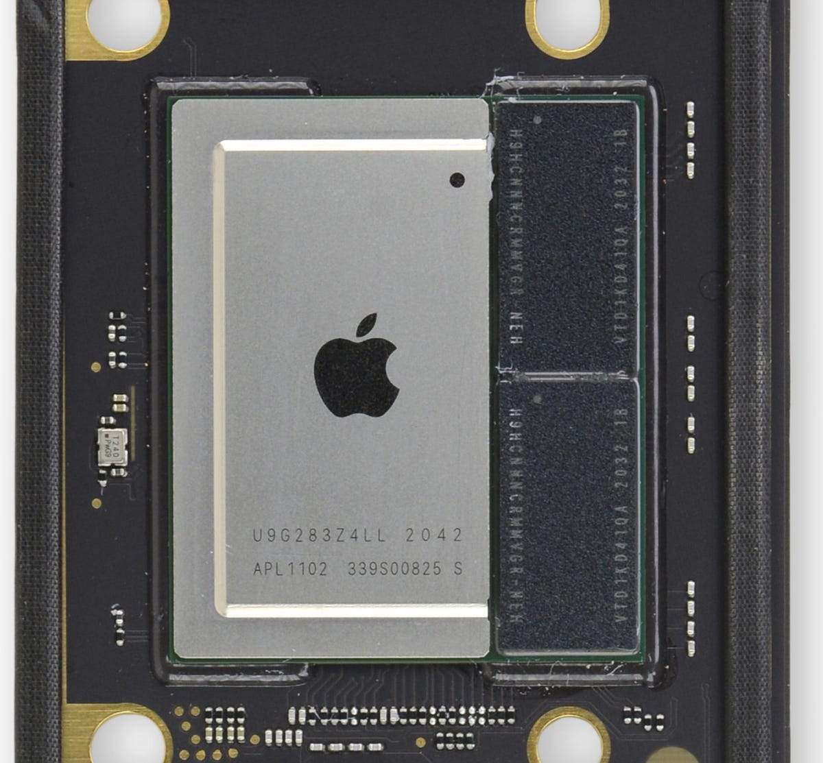 M1 chip (on the MacBook Air mainboard)