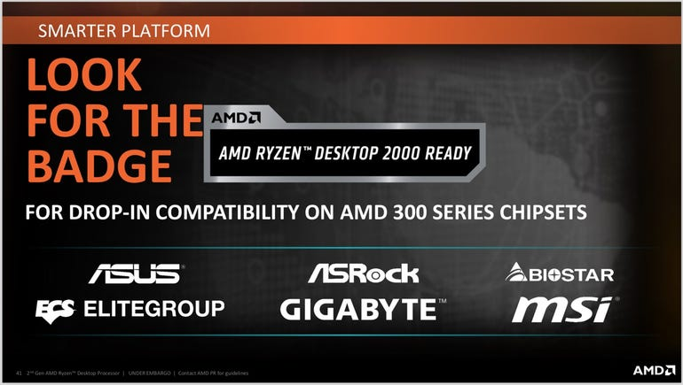 300-series motherboards sporting this badge will support 2nd-generation Ryzen chips out-of-the-box