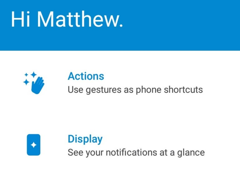 Moto utility settings