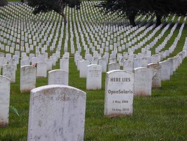 OpenSolaris graveyard