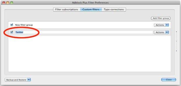 Firefox Filter Group