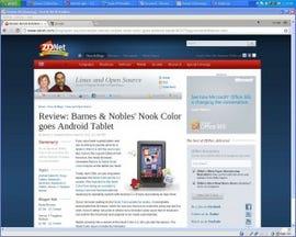 Yep, sure enough. Chrome OS looks just like the Chrome Web Browser.
