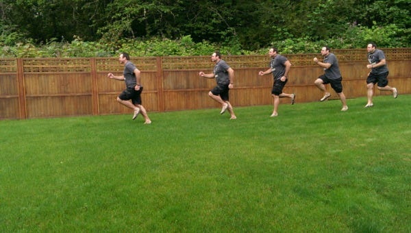 Sequence Shot of running