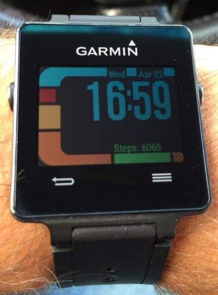 LCARS watch face on Garmin Vivoactive