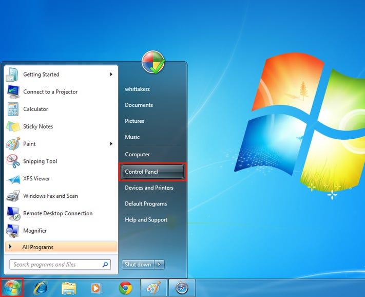 Windows: Step 1
