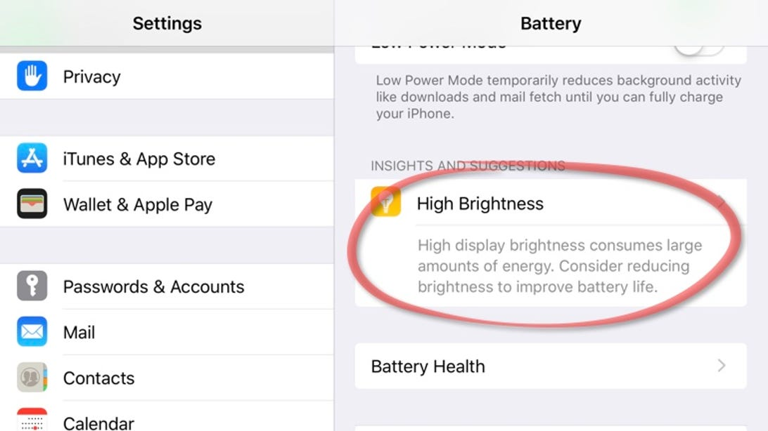 Let iOS make battery-saving suggestions