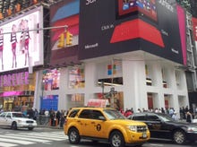 Microsoft's Surface gets cautious welcome in Times Square: Photos