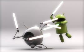 Android winning the iOS app. sales battle