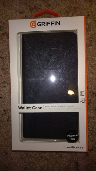 Apple iPhone 6 Plus cases include the Griffin Wallet