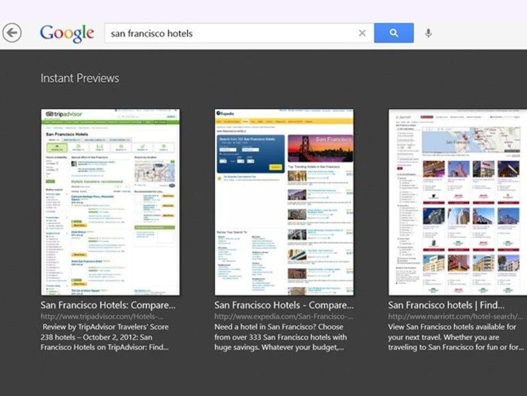 Google's app for Windows 8