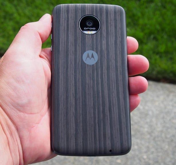 Wood grain back cover