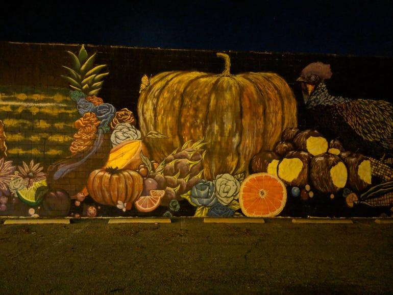 A Thanksgiving mural