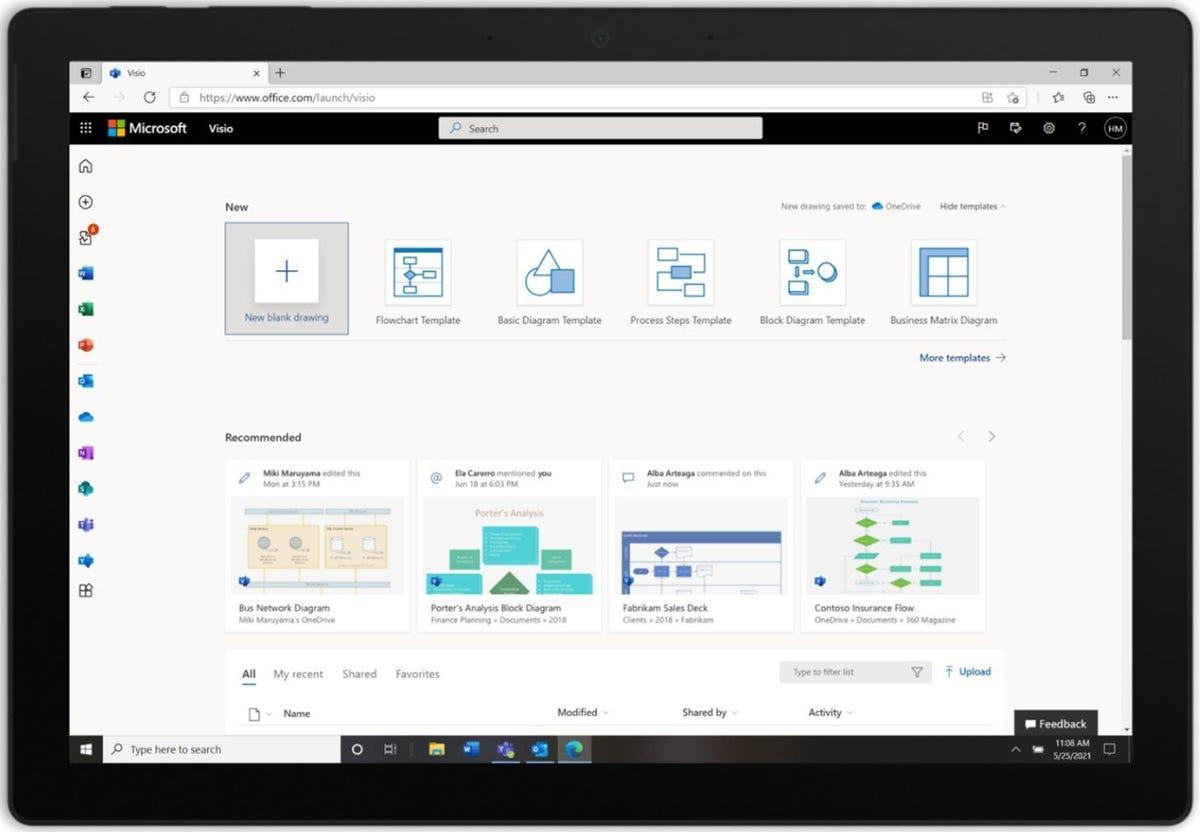 """Microsoft ajoute l'application web Visio """"légère"""" sans frais supplémentaires pour Microsoft 365 for business"""