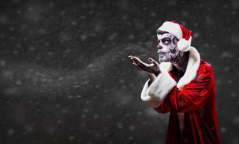 Hell Santa Claus on Christmas.
