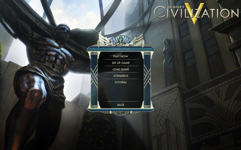 Civ welcome screen