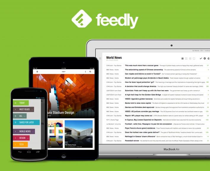 Feedly news feed reader
