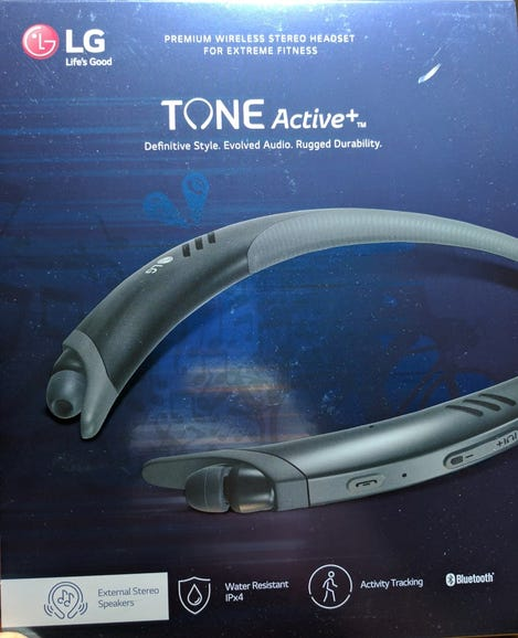 LG Tone Active+ with stereo speakers and water/sweat resistance